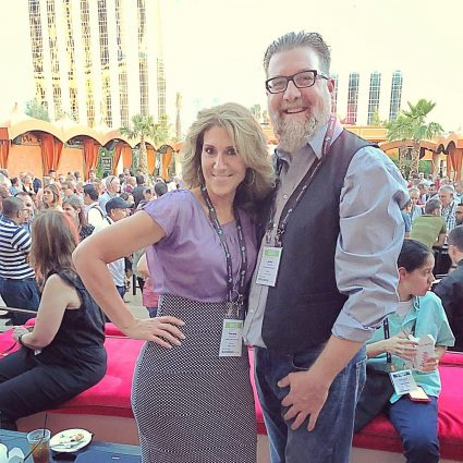 Jason & Tamara Stivers attending an evening of entertainment at the Hexagon Live technology conference.
